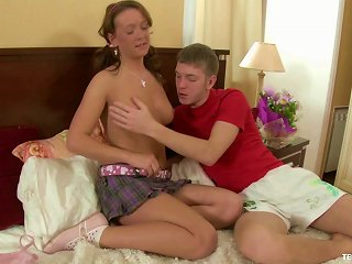 Showing A Pigtailed Teen Cutie What Great Sex Feels Like